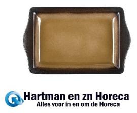 HC535 -Olympia Nomi rechthoekige tapasschalen geel-zwart 28,3 x 17,8cm