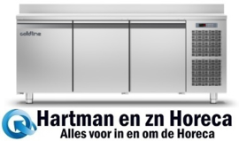 MASTER 3P/BT - Vrieswerkbank RVS geventileerd met 3 deuren Gastro 1/1 TOPCOLD