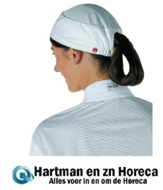 B052 -Chef Works Total Vent beanie dames wit