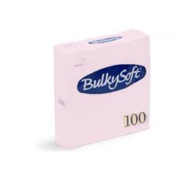 T32081 - Bulkysoft Servetten 2 Laags 40×40 1/4 Vouw 2000 st Roze