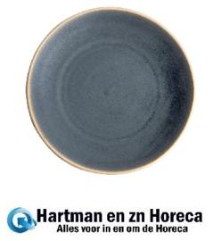 FA304 -Olympia Canvas gewelfde borden blauw graniet 27cm