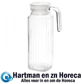 GF922 - Olympia glazen kan met deksel 1 ltr