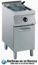 """E17/F15A4-N - Elektrische friteuse kuip in """"Y"""" 15 liter, buitenkant elementen op kast DIAMOND"""