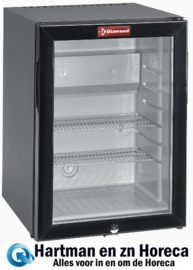 C420S/VT - Mini-bar glazen deur, 42 liter DIAMOND