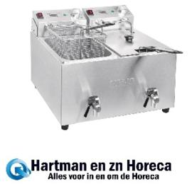 FC377 -Buffalo dubbele friteuse 2x8L 6000W met timer