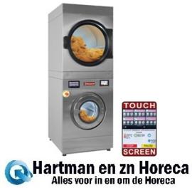 DEEB/18-TS - Wasmachine met super centrifuge 18 kg (El) + rotatieve droogkast 18 kg (El) TOUCH SCREEN DIAMOND