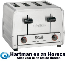 CB131 -Waring professionele broodrooster 4 sleuven WCT805K