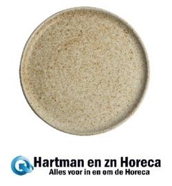 FA338 -Olympia Canvas ronde borden met smalle rand crème 26,5cm -6stuks