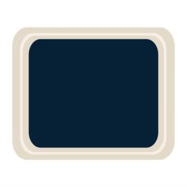 DS089 -Roltex Original dienblad blauw 42x32cm