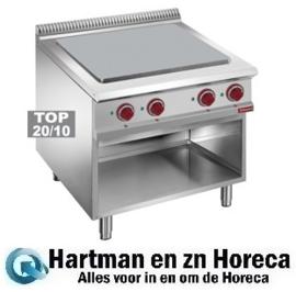 E9/STA8 - Elektrisch kookplaat met 4 verlaagde kookplaten op oven GN 2/1 DIAMOND