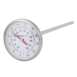 F346 - Hygiplas zakthermometer met wijzerplaat -10°C tot +110°C