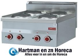 E60/4P6T - Elektrisch fornuis 4 kookplaten -Top- DIAMOND