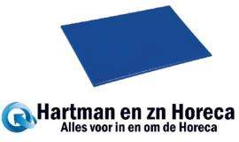 HC856 -Hygiplas antibacteriële LDPE snijplank blauw 450x300x10mm