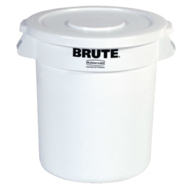 L651 - Rubbermaid Brute ronde container wit 37,9L