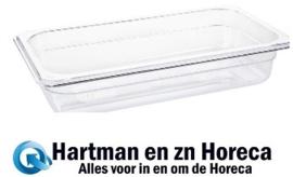 U235 - Vogue polycarbonaat bak transparant GN1/3 200mm
