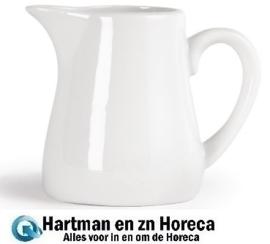 U821 - Olympia Whiteware melkkannetjes met handvat 30 cl. Prijs per 6 stuks.