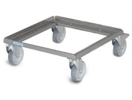 01211593 - KR / OGR 50-50 mand dolly voor vaatwasmanden 500x500 mm zonder handvat roestvrij staal