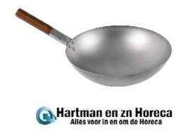 CT246 -London Wok wok met ronde bodem 38cm