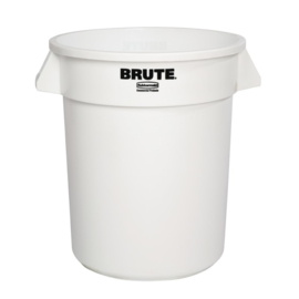 L652 - Rubbermaid Brute ronde container wit 75,7L