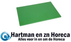 HC858 -Hygiplas antibacteriële LDPE snijplank groen 450x300x10mm