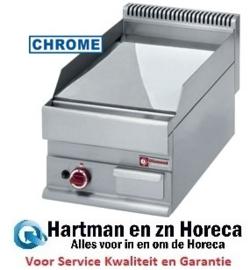 """G65/PLCD4T - Braadplaat op gas, vlakke plaat -Top- verchroomd hard """"50 µm"""" - Diamond Alpha 650"""