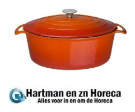 GH312 - Vogue ovale braadpan 6 liter oranje