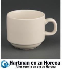 U106 -Olympia Ivory stapelbare koffiekopjes 206ml