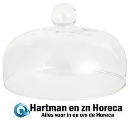 CL492 - Olympia glazen kap met greep 26 cm