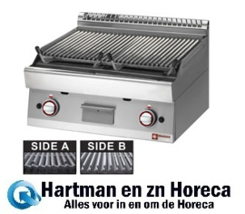 "PLX87-PB - Lavasteengrill - 1/1 module - bakrooster in gietijzer ""double face"" DIAMOND"