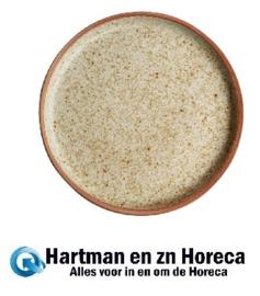 FA335 -Olympia Canvas platte ronde borden crème 18cm