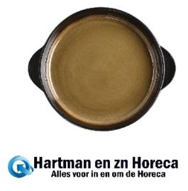 HC536 -Nomi ronde tapasschalen geel-zwart 19cm Olympia
