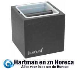 1411480764 - Koffie afklopbak Hout / Kunststof Classic Afm :  132x132x135 mm
