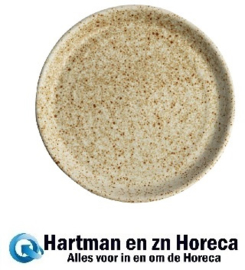 FA337 -Olympia Canvas ronde borden met smalle rand crème 18cm 6stuks
