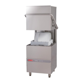 DK359 -Gastro M Doorschuifvaatwasmachine Maestro 50x50 400V met afvoerpomp, zeepdispenser en breaktank