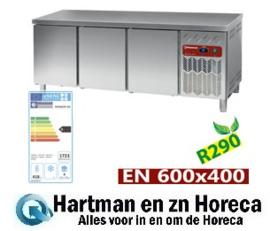 DP202/PC-R2 - Gekoelde werktafel, geventileerd, 3 deuren EN 600x400 (550L) mm (BxDxH) : 2017x800xh880/900 DIAMOND