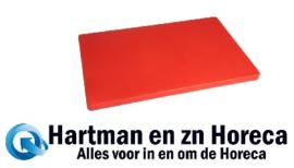 DM004 -Hygiplas LDPE extra dikke snijplank rood