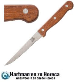 C136 - Steakmes hout heft - Prijs en verpakking per 12 stuks