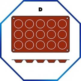 070053 - BAKMAT MADELEINE 1/3 GN in blister-verpakking ROND 45 MM / HOOG 10 MM