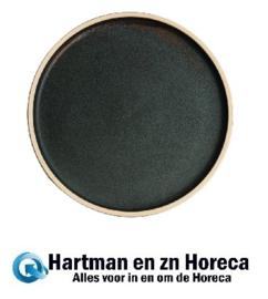 FA322 -Olympia Canvas platte ronde borden donkergroen 25cm -6stuks