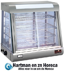 680072 - CaterChef warmhoudvitrine - 440x690x660 mm (bxdxh)