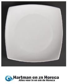 CB493 - Olympia vierkant bord met afgeronde hoeken Wit 26 cm. Prijs per 6 stuks.