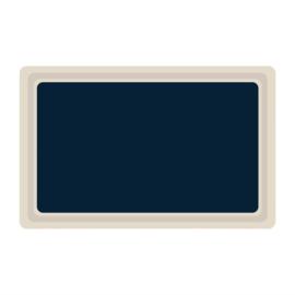 DS083 -Roltex Original dienblad blauw GN1/1 53x32,5cm