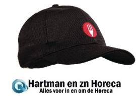 A976 - Chef Works Cool Vent baseball cap zwart