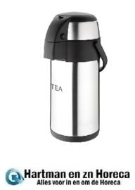 DP127 - Olympia thermoskan met pomp 3 liter Tea