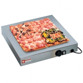 PIZZA BASE/SP  - Warmhoudplaat met oppervlak in RVS.