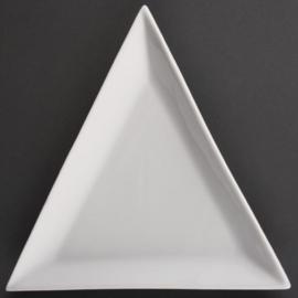 U655 - Olympia driehoekig bord Bord 20,5 cm. Prijs per 6 stuks.