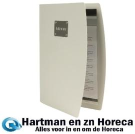 GL109 - Securit Rio A4 menuhouder zilver Inclusief 1 hoes (4 pagina's)