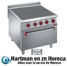 E9/4SPF8 - Elektrisch fornuis met 4 verlaagde kookplaten op oven GN 2/1 DIAMOND