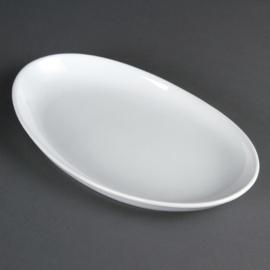 CC892 - Olympia diepe ovale schaal Wit 50 cm. Prijs per stuk.