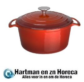 GH304 - Vogue ronde braadpan 3,2 ltr rood